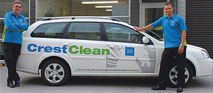 CrestClean branded vehicle
