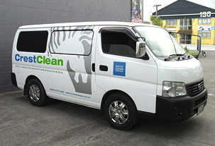 Branding for CrestClean Vehicle Fleet