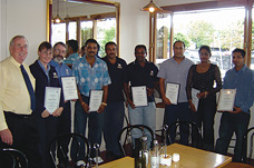 Franchisees get their training certificates